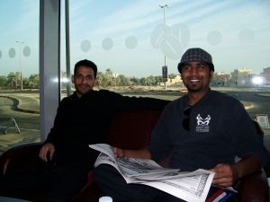 Hussain and Vinod at Costa Coffee