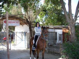 Alaa on a horse