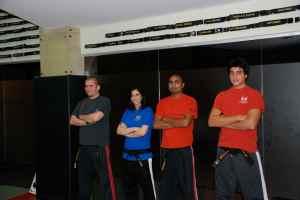 Current Black Belt holders, Faris, Alaa, Vinod and Fahad enjoying the show!