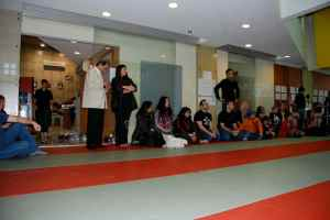 Family and friends watching the sparring
