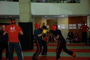 Hussain punching Faris