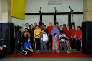 """The Black Belt """"graduates"""" with family and friends"""