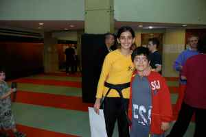 Yasmeen Fakhro with her brother Faisal