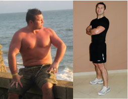 Gareth Brown lost 21 kg and 6 inches from his waist at the DreamBody Centre.  He's leaner, fitter and happier!