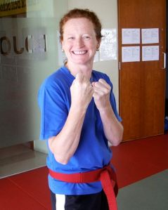 Nadia Zucchelli.  A happy Zen-Do Kickboxer.